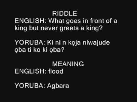 yoruba riddles