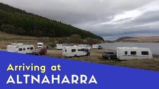 Arriving at Altnaharra C&MC Site   Scottish Highlands and Islands Tour Pt15