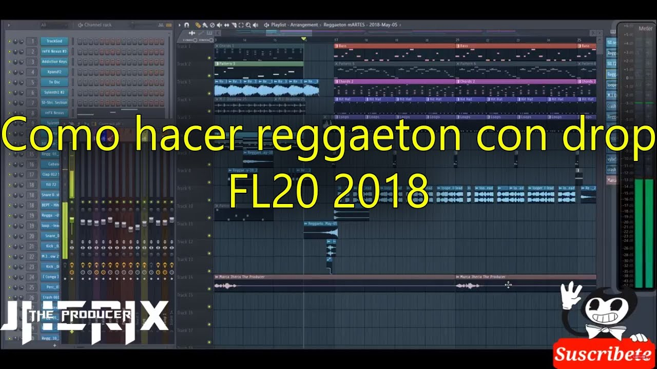 Toturial como crear reggaeton con drops professional en Fl Studio 20 by  Jherix The Producer