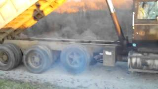 Ford  9000 Dump Truck Start and Warm Up. Smoke!!