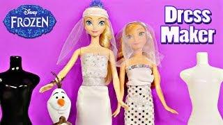 Frozen Barbie Bridal Fashion Wedding Dress Maker Disney's Frozen Elsa Princess Anna Models