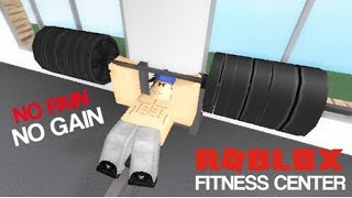 OH..... MY ABS!| Roblox Fitness Center w/ Liam