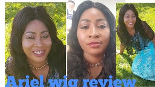 ARIEL Body Wave Lace Front Human Hair Wigs review/ affordable aliexpress wig