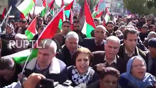 State of Palestine: Palestinians hold first rally to unify Gaza and West Bank
