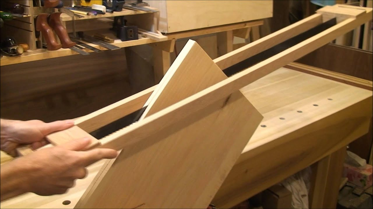 Resawing with a frame saw - YouTube