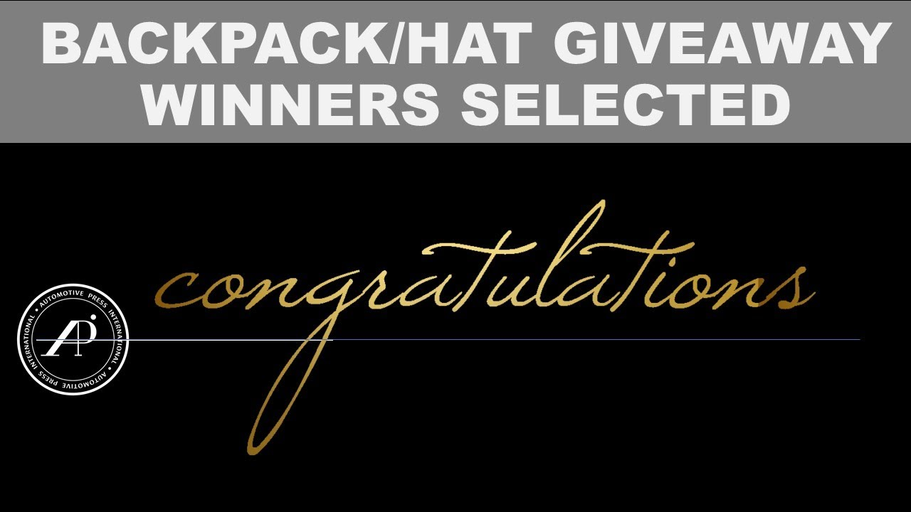 BACKPACK & HAT WINNER ANNOUNCEMENT - The Special Gift is in Celebration of 2022 Toyota Tundra Launch