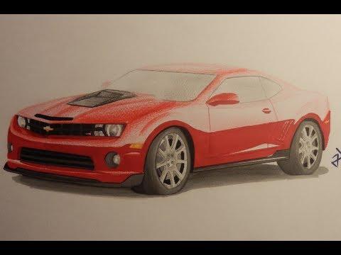 Chevrolet Camaro Ss Speed Drawing Youtube