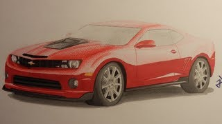 Chevrolet Camaro SS - Speed Drawing