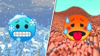 Temperatur in Minecraft? 🥵🥶 1.15 Mapmaking