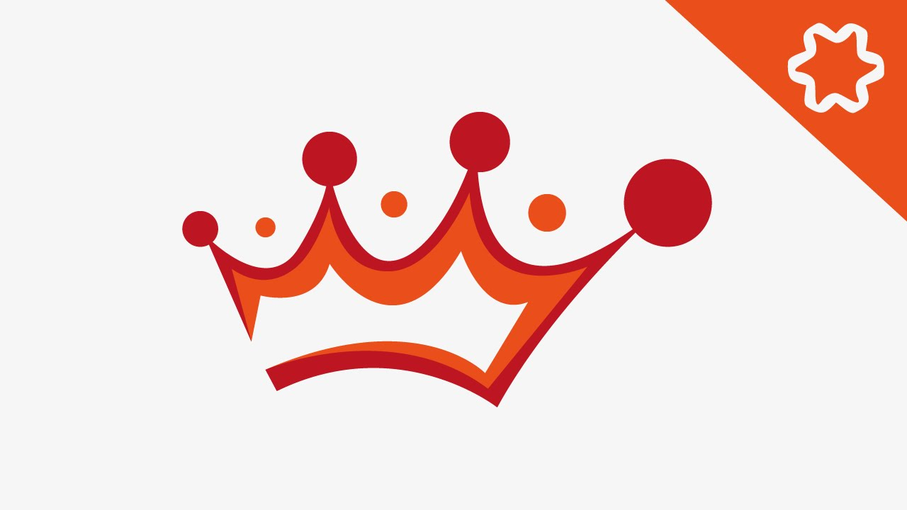 simple crown logo design adobe illustrator tutorial