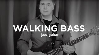 Jazz Guitar: Walking Bass Lines with Chords - Jazz Guitar Lesson Tutorial