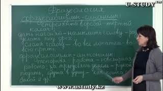 Подготовка к ЕНТ: Русский язык (Фразеологизм синономы, антонимы)