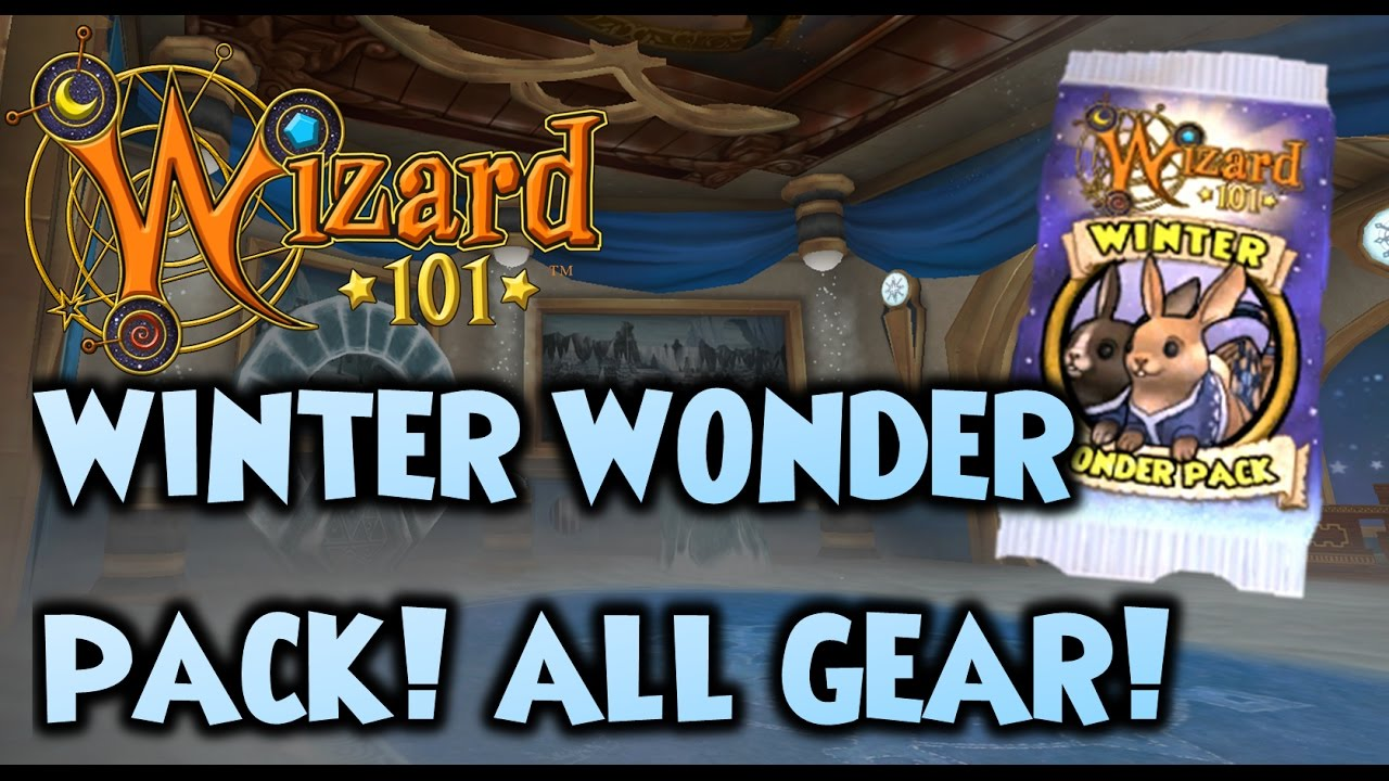 Wizard101 - Winter Wonder Pack - All Items & Maycast Wands