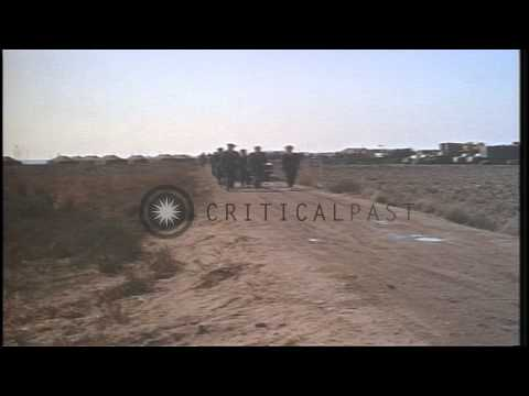 US officers at USAF (United States Air Force) command post in Palomares, Spain af...HD Stock Footage
