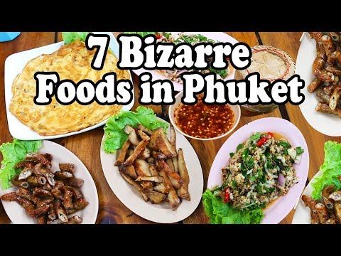 7-weird-foods-in-phuket-thailand-|-taste-testing-bizarre-foods-|-phuket-strange-food-tour-2019