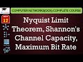 Nyquist Limit Theorem, Shannon's Channel Capacity, Maximum Bit Rate solved example