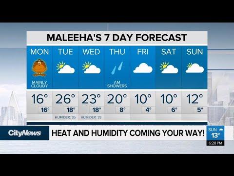 Heat and humidity on the way