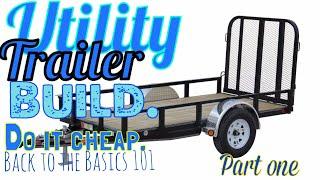 Cargo trailer build,part one.