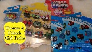 Thomas & Friends Mini Trains- Spongebob, Power Rangers, & Blind Bags Opening