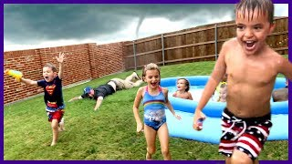FUNNEL CLOUD AT BIRTHDAY PARTY!!