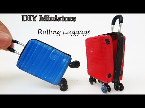 DIY  Miniature Rolling Luggage look like Realistic -  very easy crafts ideas