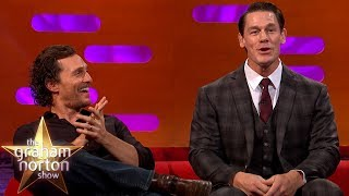 John Cena, Matthew McConaughey \u0026 Jamie Oliver Geek Out Over Wrestling | The Graham Norton Show