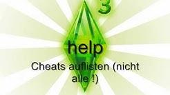 Sims 3: Alle Cheats (Deutsch)