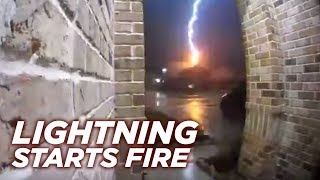 The rosenberg fire department is reminding people to be safe during lightning storms after sharing video that showed a strike hit home, sparking ...
