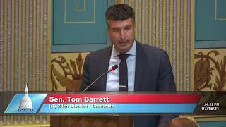 Sen. Barrett urges passage of Unlock Michigan initiative