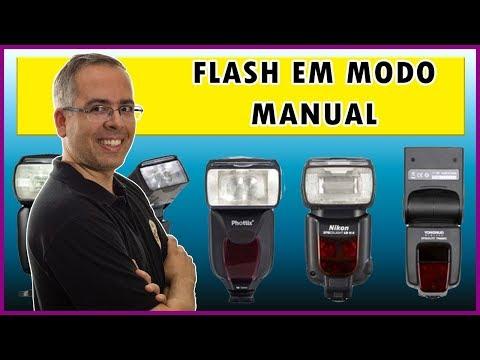 Como usar o flash dedicado em modo manual