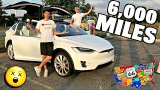 Driving My Tesla Model X 6,000 Miles Cross-Country!!