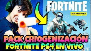 BUYING THE CRIOGENIZATION PACK *FORTNITE PS4 AND NEW LIVE GRANIAL SKIN