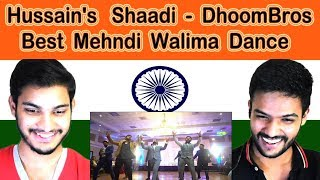 Indian reaction on Hussain Shaadi | Best Mehndi Walima Fortnite Dance | DhoomBros | Swaggy d