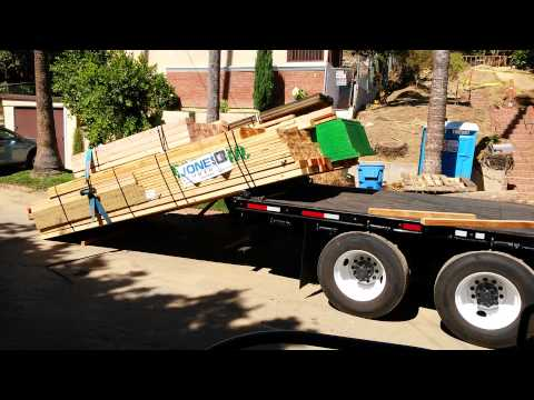 How Lumber Gets Delivered To A Job Site.