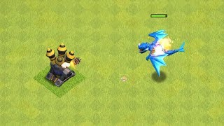 All Max Defense Buildings vs Max Electro Dragon | 1 vs 1 Battle | Clash of Clans New Update