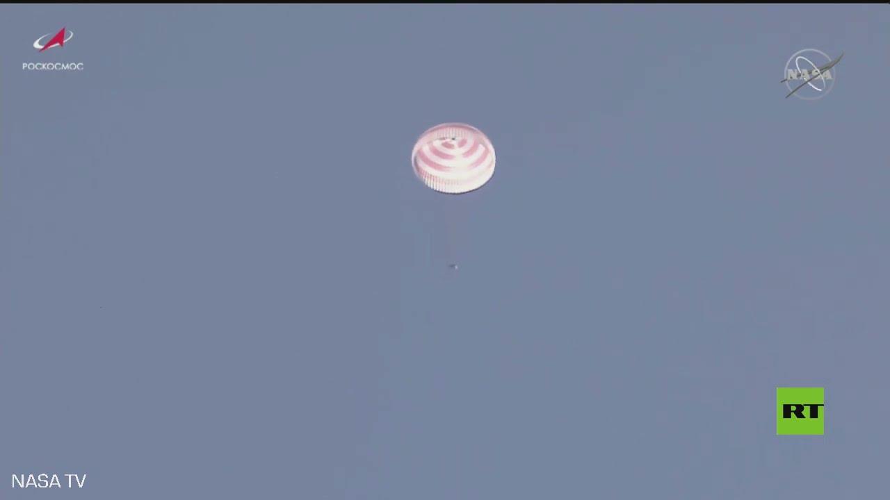 هبوط طاقم من رواد الفضاء بنجاح في كازاخستان  - 10:58-2021 / 4 / 17
