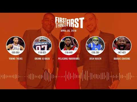 First Things First audio podcast(4.25.18) Cris Carter, Nick Wright, Jenna Wolfe | FIRST THINGS FIRST