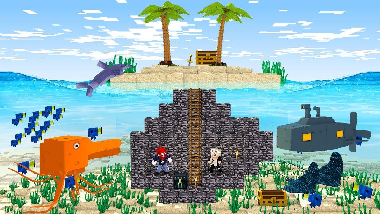 Wir Bauen Das Schönste Unterwasser Haus YouTube - Minecraft haus unter wasser bauen
