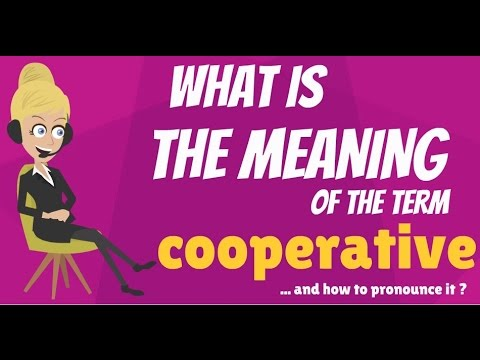 What is COOPERATIVE? What does COOPERATIVE mean? COOPERATIVE meaning & explanation