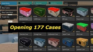 Opening my cases 177 | Phantom Forces | Roblox