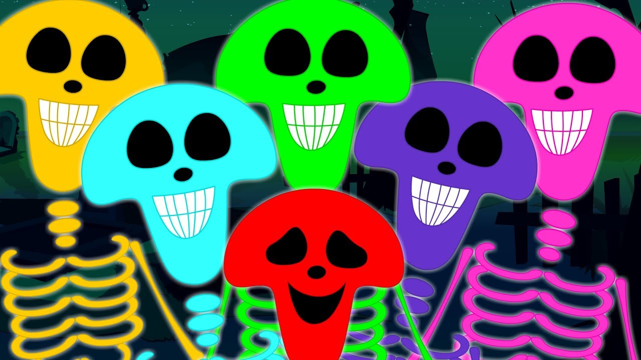 Download Skeleton March | Scary Nursery Rhymes | Haunted House Videos For Kids