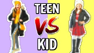 Sister DECIDES my OUTFIT CHALLENGE: TEEN vs KID!