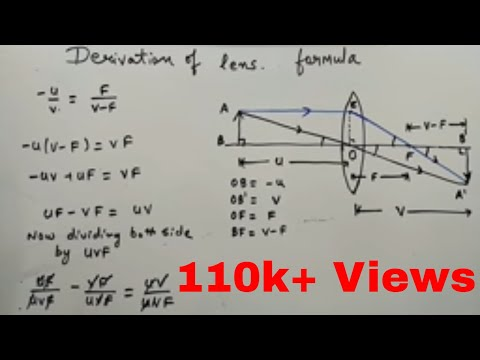 DERIVATION OF LENS FORMULA