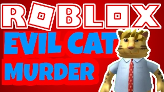CAT MURDERER in ROBLOX (Murder Funny Moments feat. TheHealthyCow, TheGameSpace, Alden, and Austin)