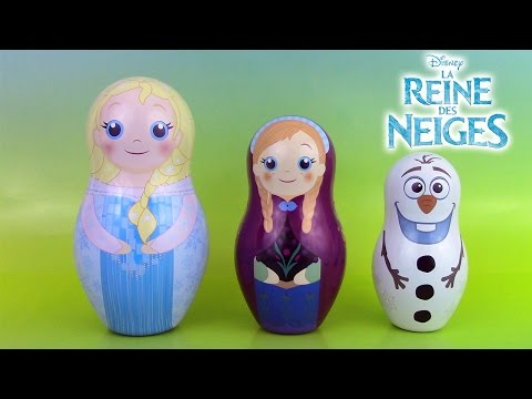 Reine des Neiges Poupées Russes Gigognes Frozen Stacking Cups Nesting Dolls image