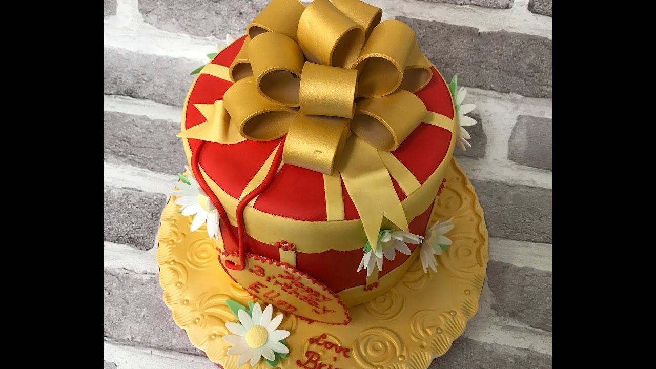 Red Gold Birthday Cake Youtube