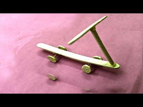 How to make Skateboard - Art & Craft With Wood | DIY Wooden Skateboard Design