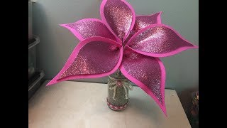 DIY: How to make a glitter foam flower / Como hacer una bella flor en Foami / Goma Eva