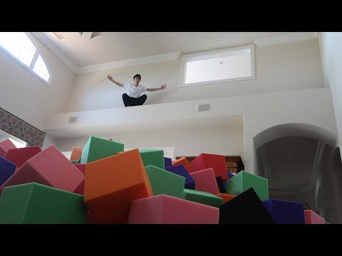 INDOOR FOAM PIT IN THE NEW HOUSE!! (INSANE)