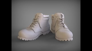 Моделирование ботинок в 3D Coat ч.1.  Boot modeling in 3D Coat  part 1.
